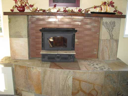 Woven Steel Fireplace Surround